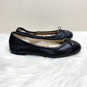 Sam Edelman Felicia Black Leather Slip On Flats
